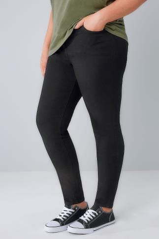 Skinny Black 5 Pocket Skinny Jeans 056282