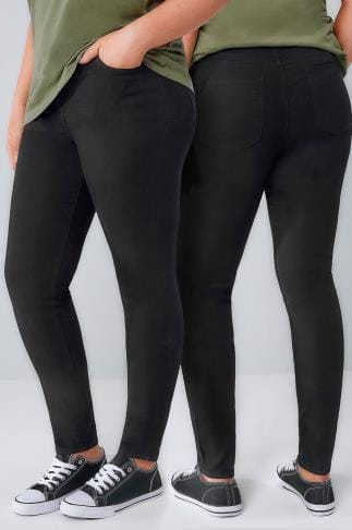 Skinny Jeans Black Basic 5 Pocket Skinny Jeans 056282