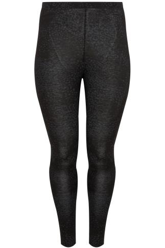 Black Animal Print Full Length Leggings