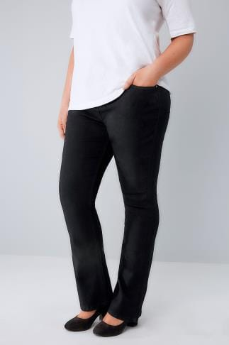 Black Bootcut 5 Pocket Jeans 053110