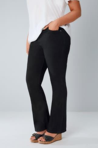 Bootcut & Flares Black Bootcut SHAPER Jeans 101597