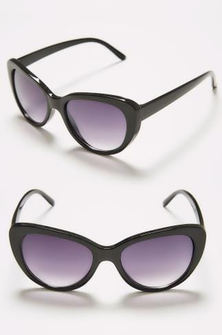 Sunglasses Black Cat Eye Sunglasses With UV Protection 152270