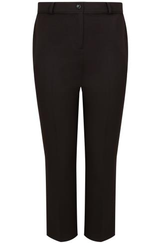 Black Classic Leg Trousers With Piping Detail