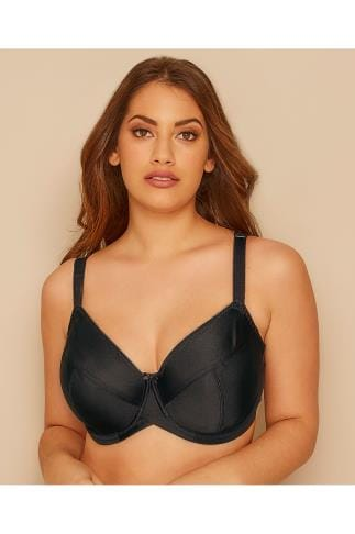 Bras Wired Black Classic Smooth Non-Padded Underwired Bra 014283