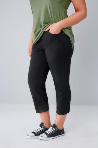 Cropped Jeans Black Cropped Jeans 056281