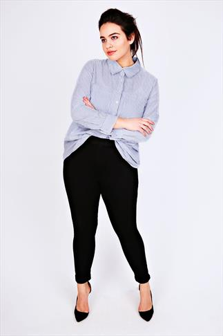 Black Pull On Stretch Jeggings 050993