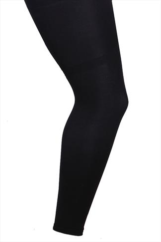 Black 80 Denier Footless Tights
