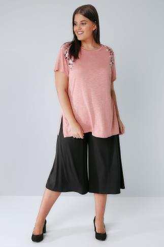 Black Jersey Culottes 144045