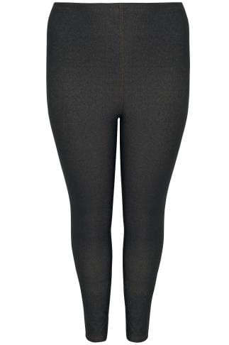Black Jersey Jeggings