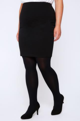 Black Jersey Tube Skirt