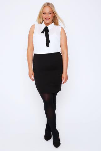 Black Jersey Tube Skirt 101877