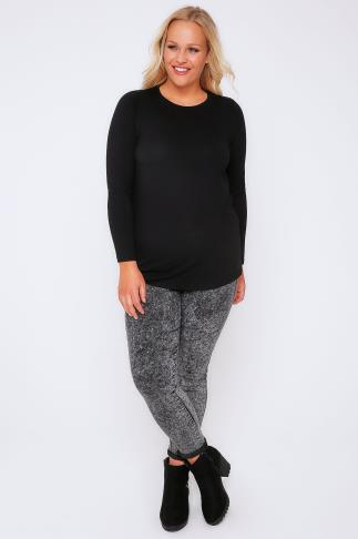 Day Black Long Sleeve Soft Touch Jersey Top 102692