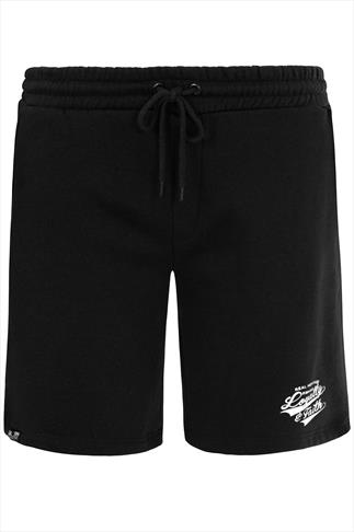 Black 'Loyalty & Faith' jogger Shorts