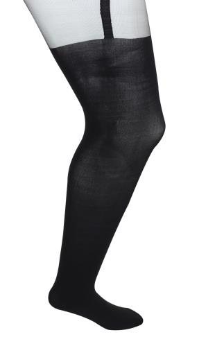 Tights Black Mock Over The Knee Tights 102819
