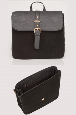 Black Multiway Shoulder Bag/Backpack