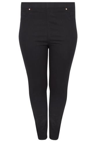 Jeggings Black Pull On Stretch SHAPER JENNY Jeggings 142127