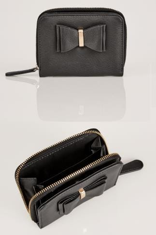 Purses Black Purse With Bow Front Detail 152224