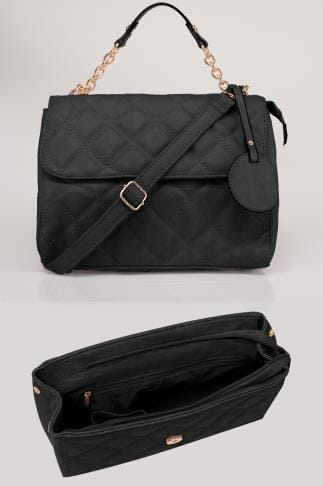 Across-The-Body Black Quilted Cross Body Bag 152429