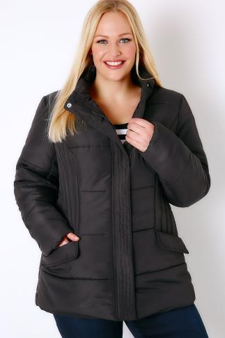 Coats Black Short Padded Puffer Jacket 103213