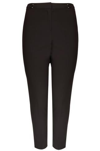 Black Slim Leg Smart Trousers