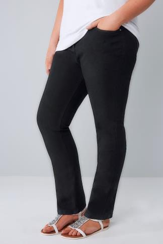 Straight Leg Black Straight Leg 5 Pocket Jeans 052973