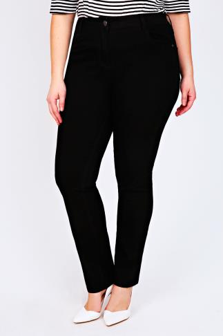 Black Straight Leg 5 Pocket Jeans