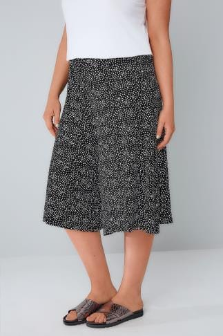 Culottes Black & White Ditsy Daisy Print Jersey Culottes 142077