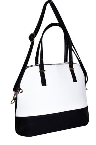 Shopper & Tote Bags Black & White Two Tone Tote Bag 152411