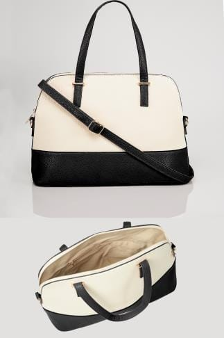 Black & White Two Tone Tote Bag