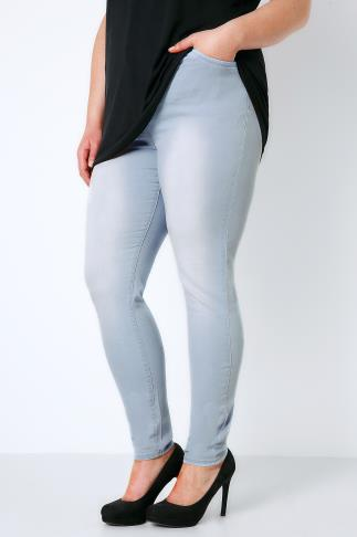Skinny Bleach Wash Denim Skinny Jeans 142006