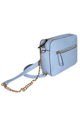 Across-The-Body Blue Camera Bag With Cross Body Chain 152435
