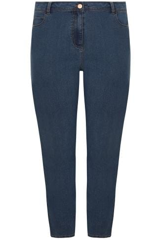 Blue Denim 5 Pocket Straight Leg Jeans