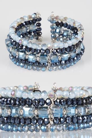 Bracelets Blue & Navy Beaded Bracelet 152367