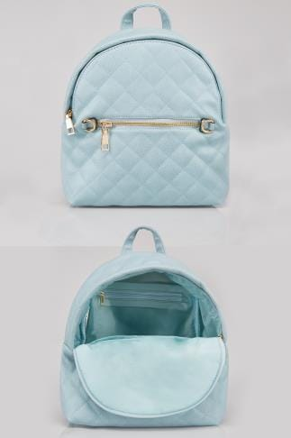 Blue Small Quilted Backpack