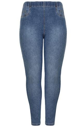 Blue Washed Vintage Jeggings
