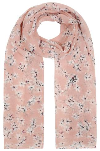 Scarves Blush Pink Daisy Print Scarf 152062