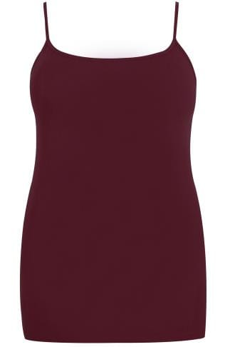 Burgundy Cami Vest Top