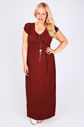 Burgundy Gypsy Style Maxi Dress