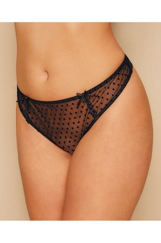 Briefs Knickers CURVY KATE Black Polka Dot Princess Brief 138443