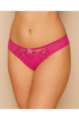 Briefs Knickers CURVY KATE Hot Pink Mesh Cabaret Brief 138437