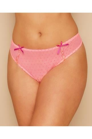 Briefs Knickers CURVY KATE Pink Polka Dot Princess Brief 138445