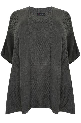 Charcoal Grey Tabard With Patchwork Stitch