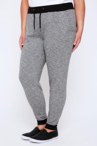 Joggers Charcoal Joggers With Black Contrast Cuff 100755