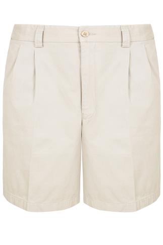 Stone Chino Shorts With Elasticated Waist Insert
