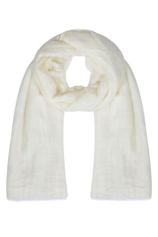 Cream & Gold Metallic Fibre Textured Scarf