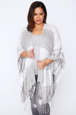 Wraps Cream & Grey Colour Block Wrap 101518