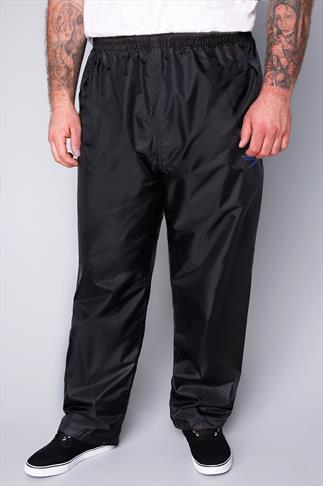 D555 Black Packaway Waterproof OverTrousers