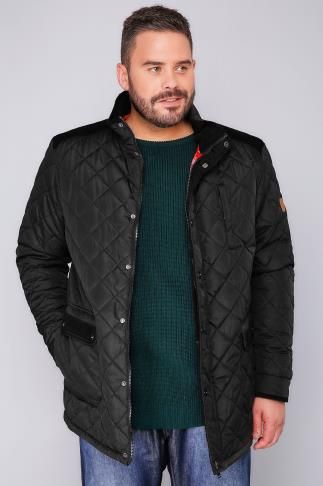 Jackets D555 Black Quilted Jacket - TALL 101166