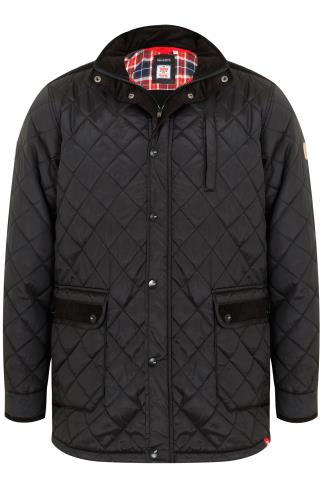 D555 Black Quilted Jacket - TALL