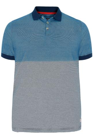 D555 Blue Dip Dye Alfred Polo Shirt